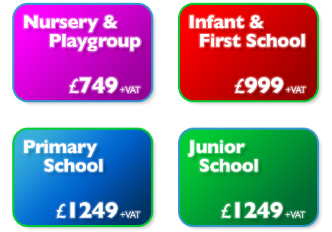 Nursery & Playgroup - £499 : Infant & First School - £699 : Primary School - £899 : Junior School - £899